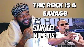 WWE The Rock Most Savage Moments , Funny Moments , Outrageous Moments | Reaction