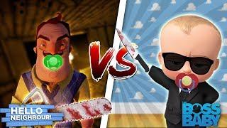 Minecraft THE BOSS BABY VS BABY HELLO NEIGHBOR - EVIL BABIES TRY TO KILL EACHOTHER!! - Donut the Dog