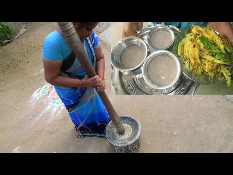 Cooking Pearl Millet Porridge Recipe in My Village | Traditional Food | VILLAGE FOOD