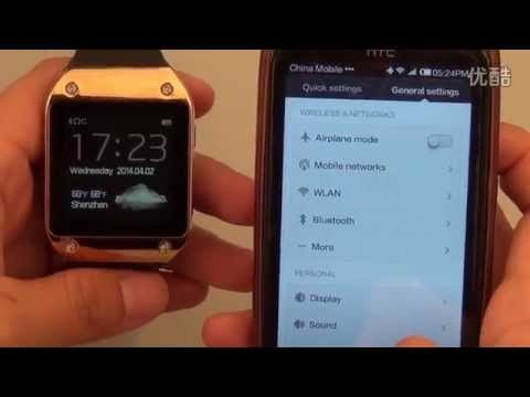 SmartWatch PW install app and connection Smartphone Android