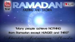 Purpose of Ramadan