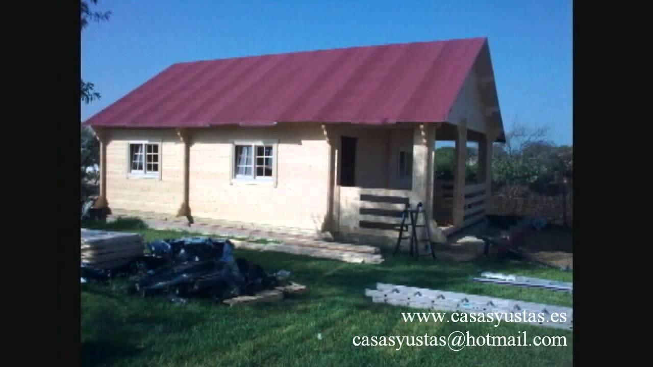 Casasyustas montaje de casa de madera modelo europa - Montaje casa de madera ...