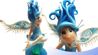 Winter fairy and the magical crystal- Polymer clay tutorial