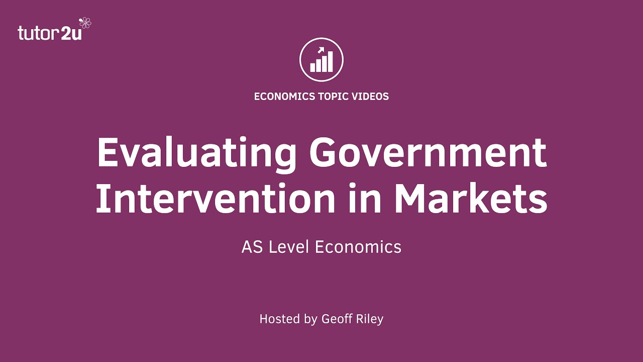 an analysis of government intervention The study of government intervention in financial markets.