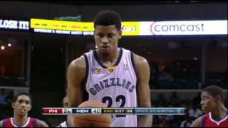 Rudy Gay one handed free throws