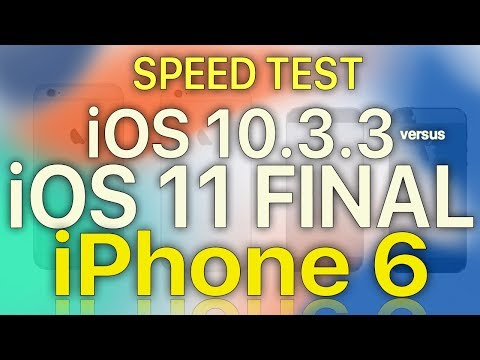 iPhone 6 : iOS 11 Final vs iOS 10.3.3 Speed / Performance / Benchmark Test
