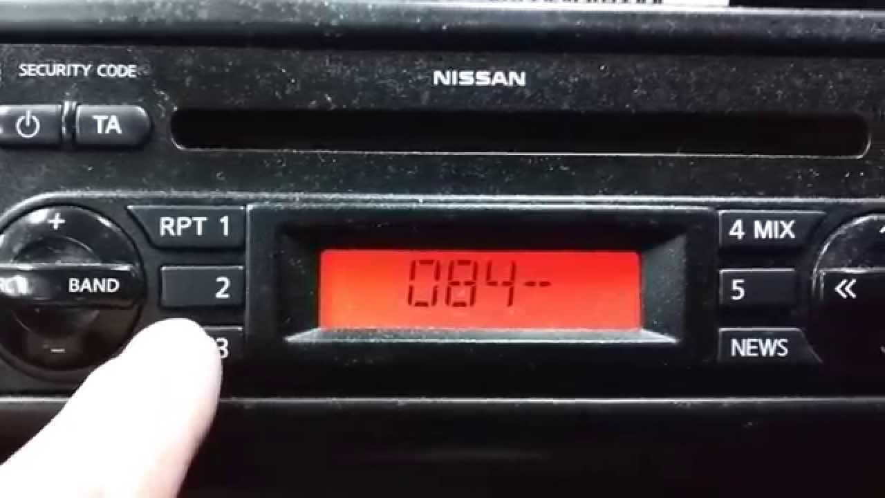 Nissan Note Radio Code Entry - YouTube
