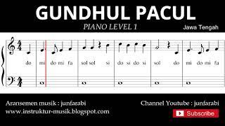 not balok gundul gundul pacul - piano level 1 - lagu daerah jawa tengah - do re mi / sol mi sa si