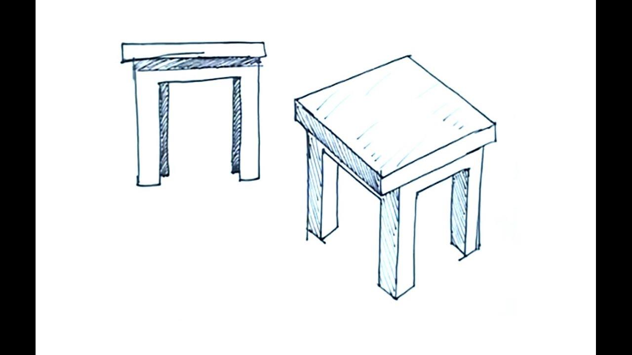 Tutoriales de dibujo c mo dibujar una mesa dibujos de for Sillas para dibujar facil