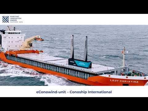 eConowind-unit van CONOSHIP is genomineerd voor de Maritime Innovation Award 2019!