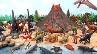 DIY Volcano Island With Jurassic World-2 Dinosaurs! T-Rex, Indominus, BLUE Battle Dino Video