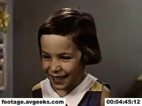 1950s stock footage - a little girl and her rabbit