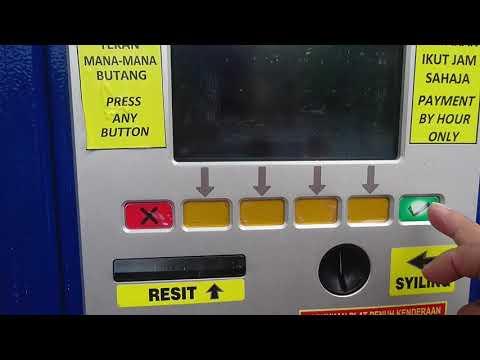 Kuala Lumpur parking machine