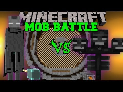Wither Boss Vs. Ender Lord - Minecraft Mob Battles - Legendary Beasts Mod