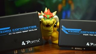 Portta AV 1080p Upscaler Review - Use Retro Consoles on Modern TV