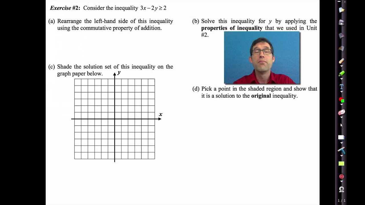 Common Core Algebra I Unit #4 Lesson #11 Graphs of Linear Inequalities
