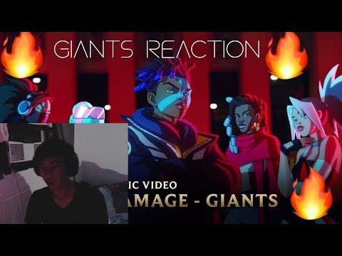 EKKO RAP'S SO HARD - (Reaction) True Damage Giants Music Video And Ceremony Opening