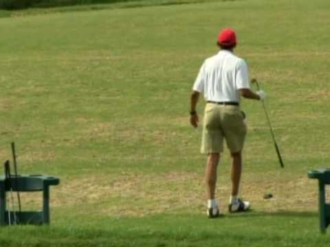Obama Takes A Swing