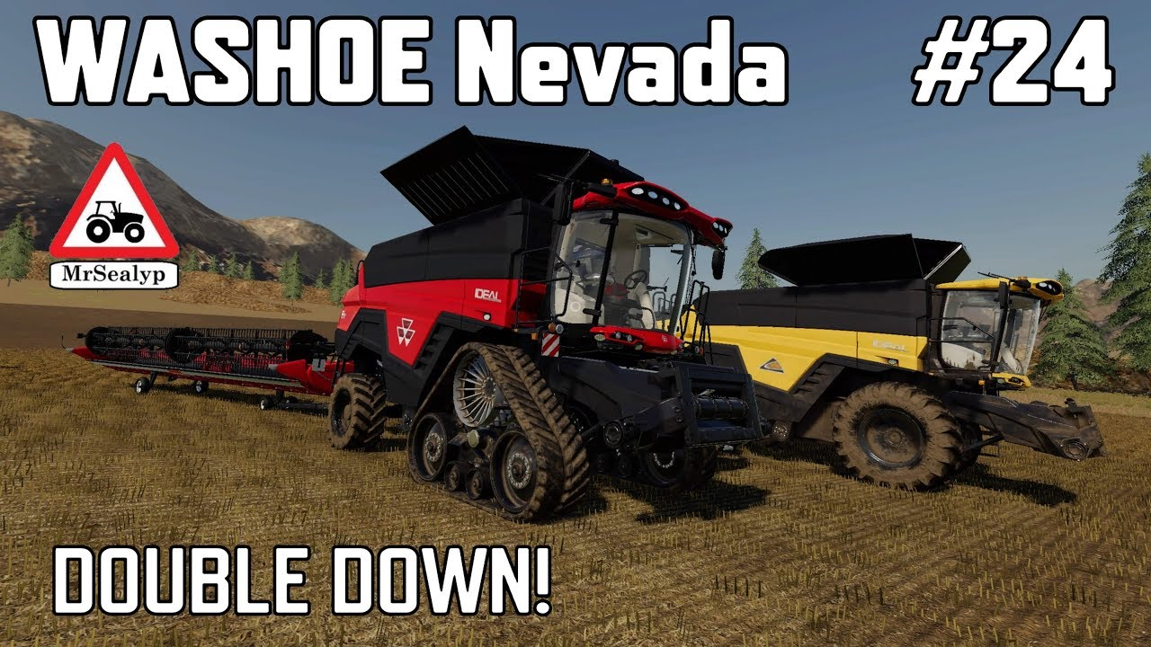 WASHOE Nevada, #24, Double Down! Farming Simulator 19, PS4, Let's Play