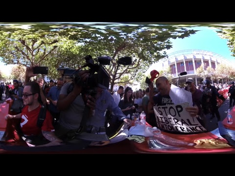 Fighting at Berkeley Milo Protest! (LIVE 360)