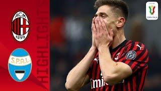 Milan 3-0 Spal | Piątek Scores As Milan Enjoy Comfortable Win! | Round Of 16 | Coppa Italia