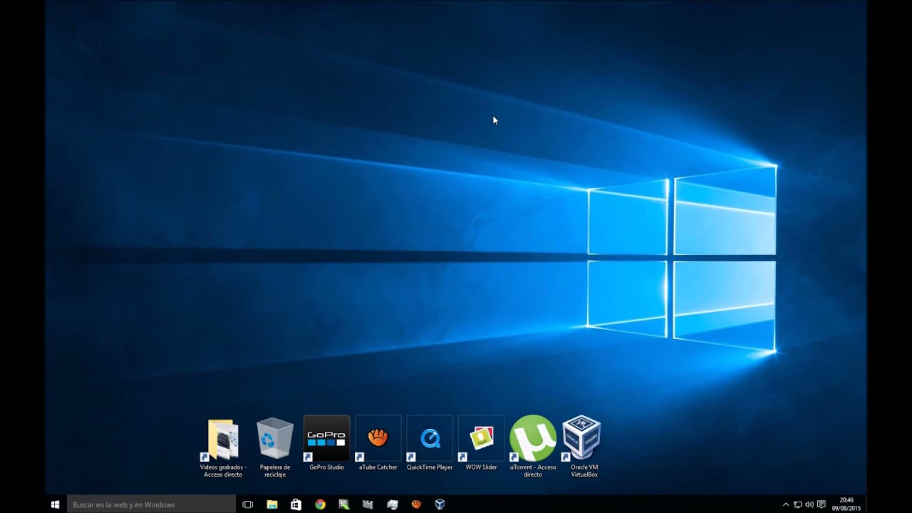 Como cambiar el fondo de pantalla en windows 10 youtube for El fondo de escritorio