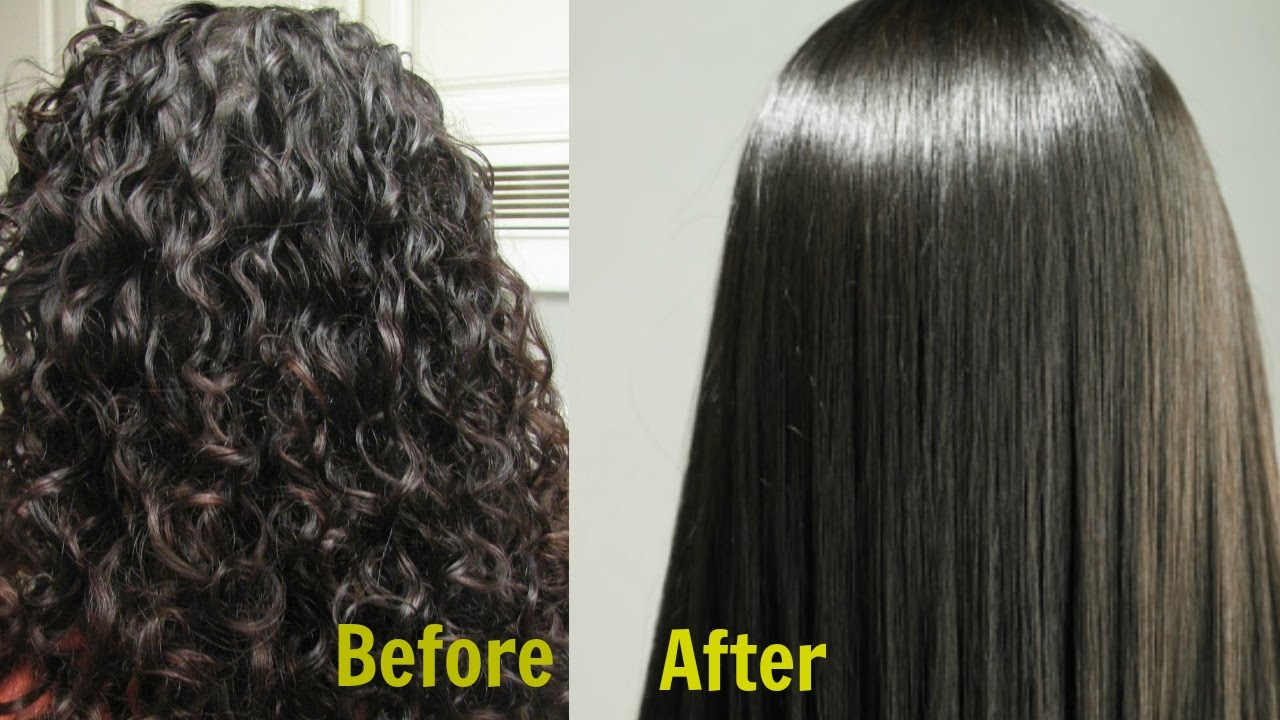 Straight perm didnt work - Permanent Hair Straightening At Home In 3 Ways Silk Shine Naturally Youtube