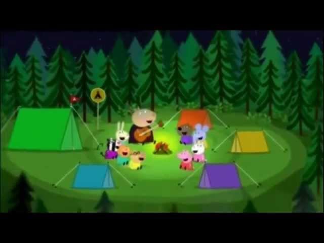 Peppa la Cerdita La cancion de Bing Bong en el Campamento Videos De Viajes