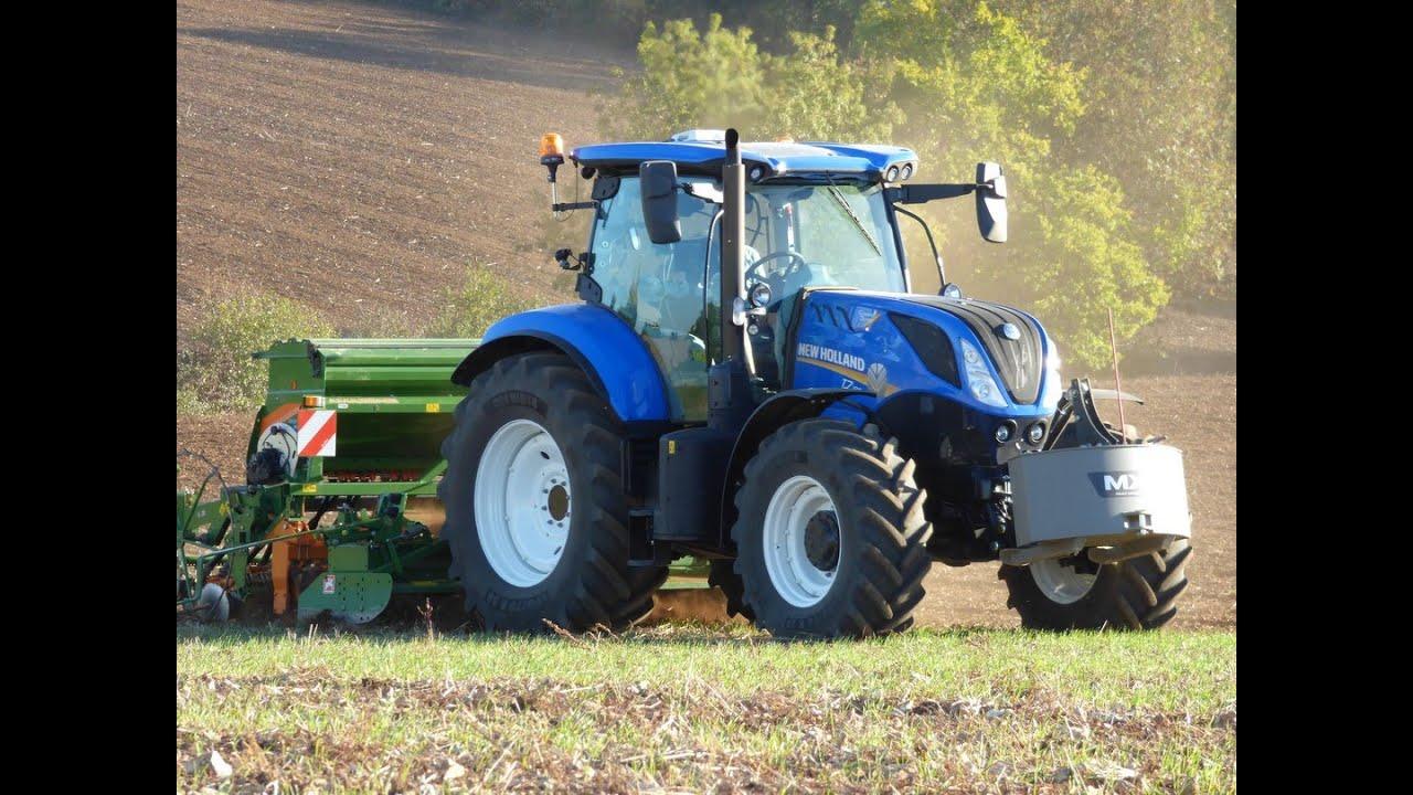 Semis de blé | NEW HOLLAND T7 190 | AMAZONE
