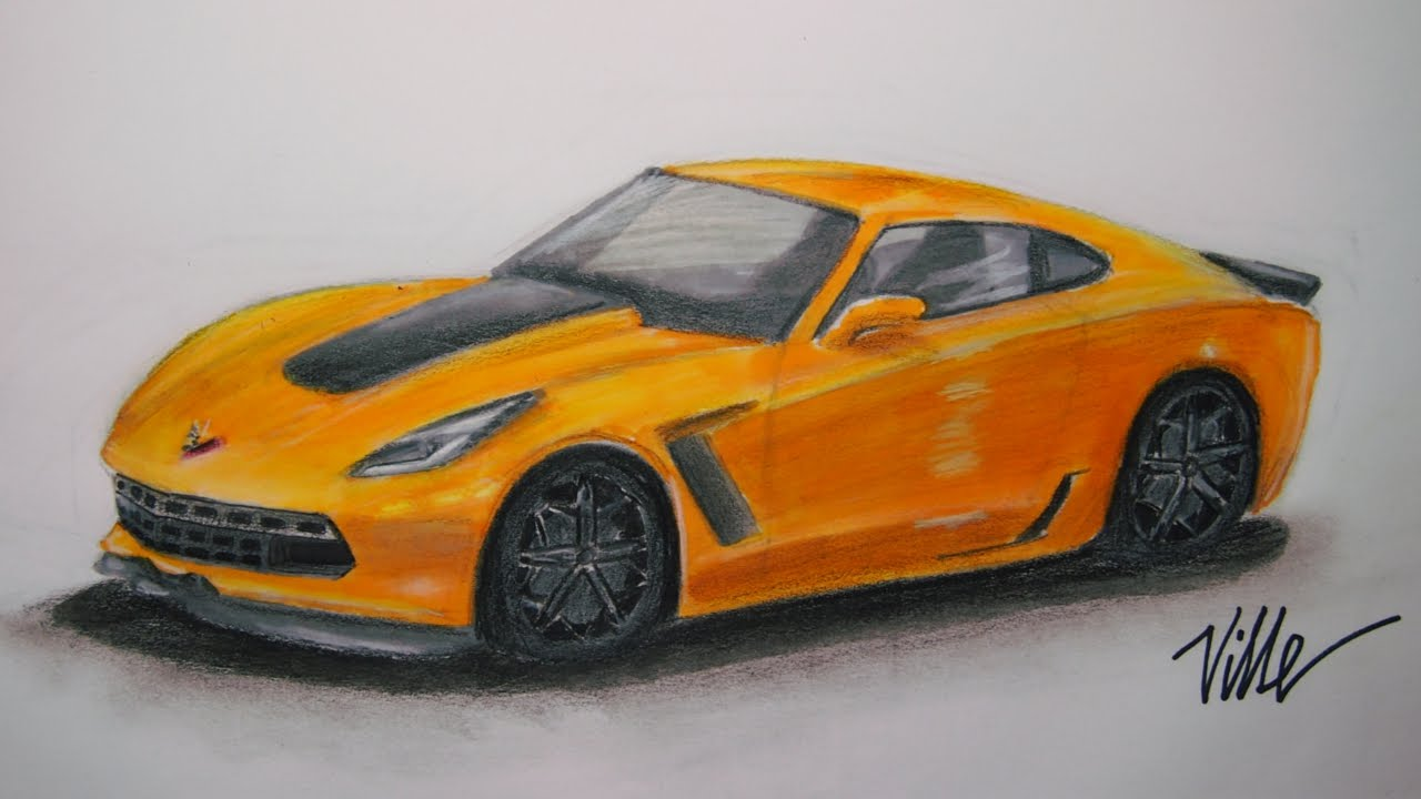 corvette z06 speed drawing youtube