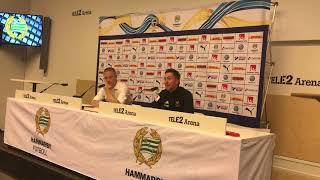 Presskonferens efter Hammarby ÖFK