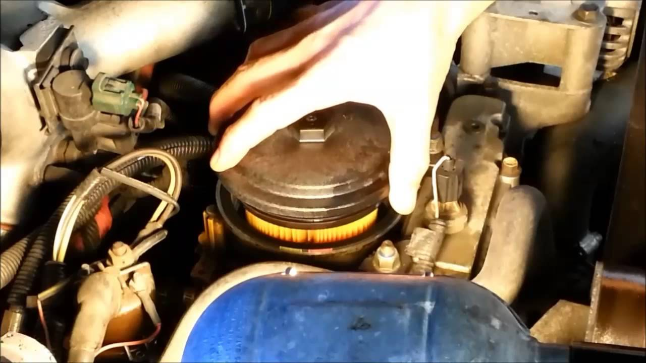 How to Change the Fuel Filter on a 7.3 sel - YouTube