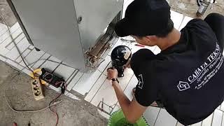 Cara mudah mengganti oli compresor pada mesin kulkas yang kemasukan air