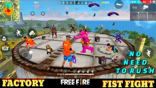 FREE FIRE FACTORY FIGHT BOOYAH 17 - FF FIST FIGHT ON FACTORY ROOF - GARENA FREE FIRE - OP HEADSHOT