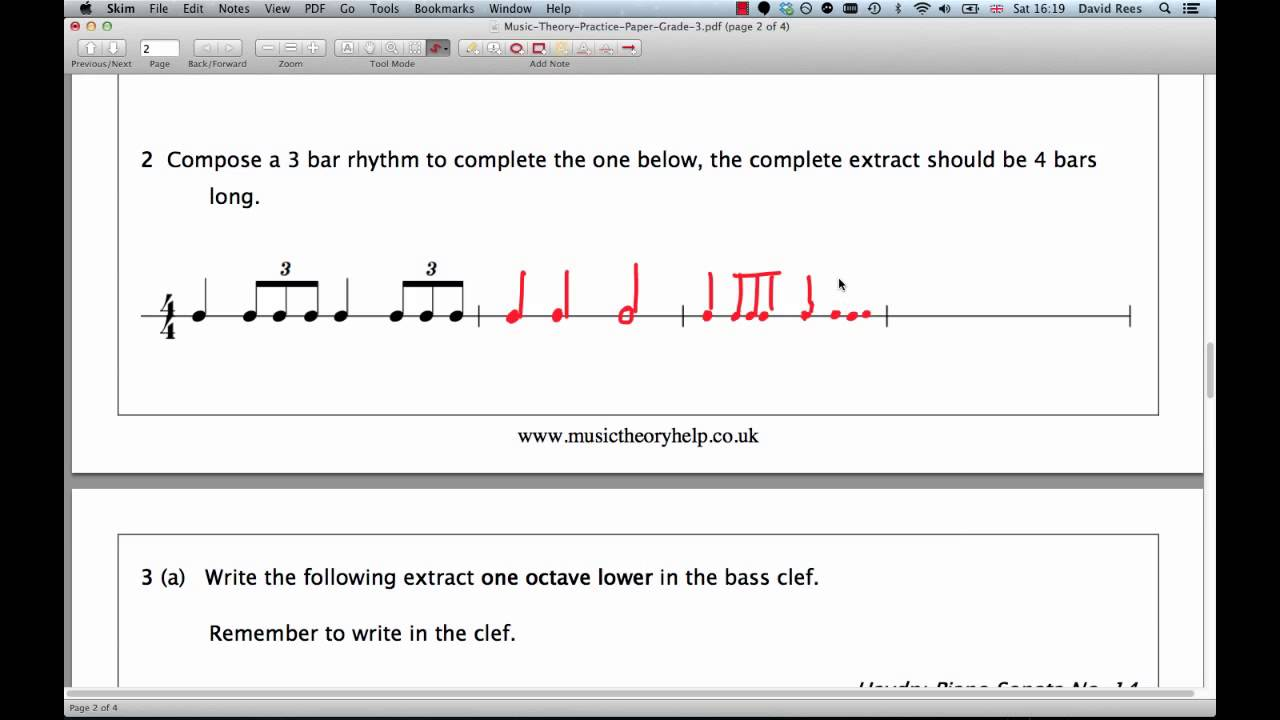 Image Result For Abrsm Music Theory Grade Past Papers
