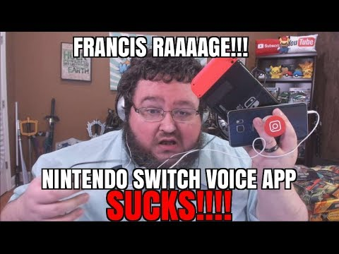 FRANCIS RAGE! NINTENDO SWITCH PHONE APP SUCKS FOR SPLATOON 2!