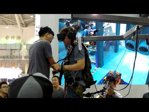 2016 Computex CoolerMaster VR Skydiving Machine
