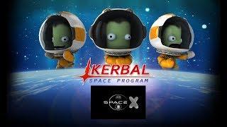 Kerbal Space Program. Огуречный SpaceX. Режим карьеры (стрим) #2