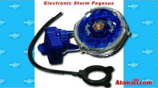 Beyblades Electronic Storm Pegasus Toy Review Unboxing Metal Fusion