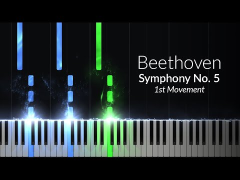 Symphony No. 5 1st Movement - Ludwig van Beethoven [Piano Tutorial] (Synthesia)