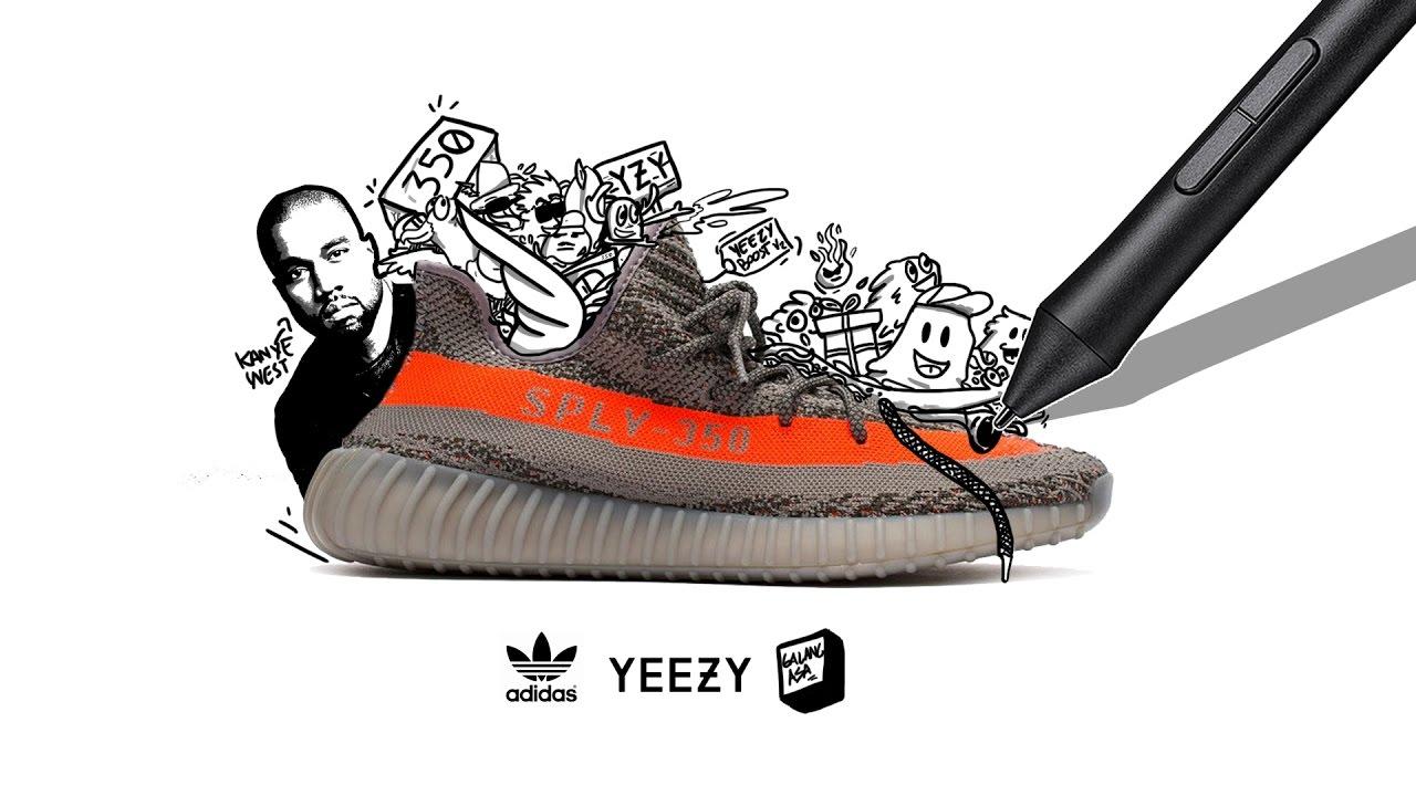 """Yeezy boost v2 zebra "" Stickers by harrysopho   Redbubble  Yeezy Drawing"