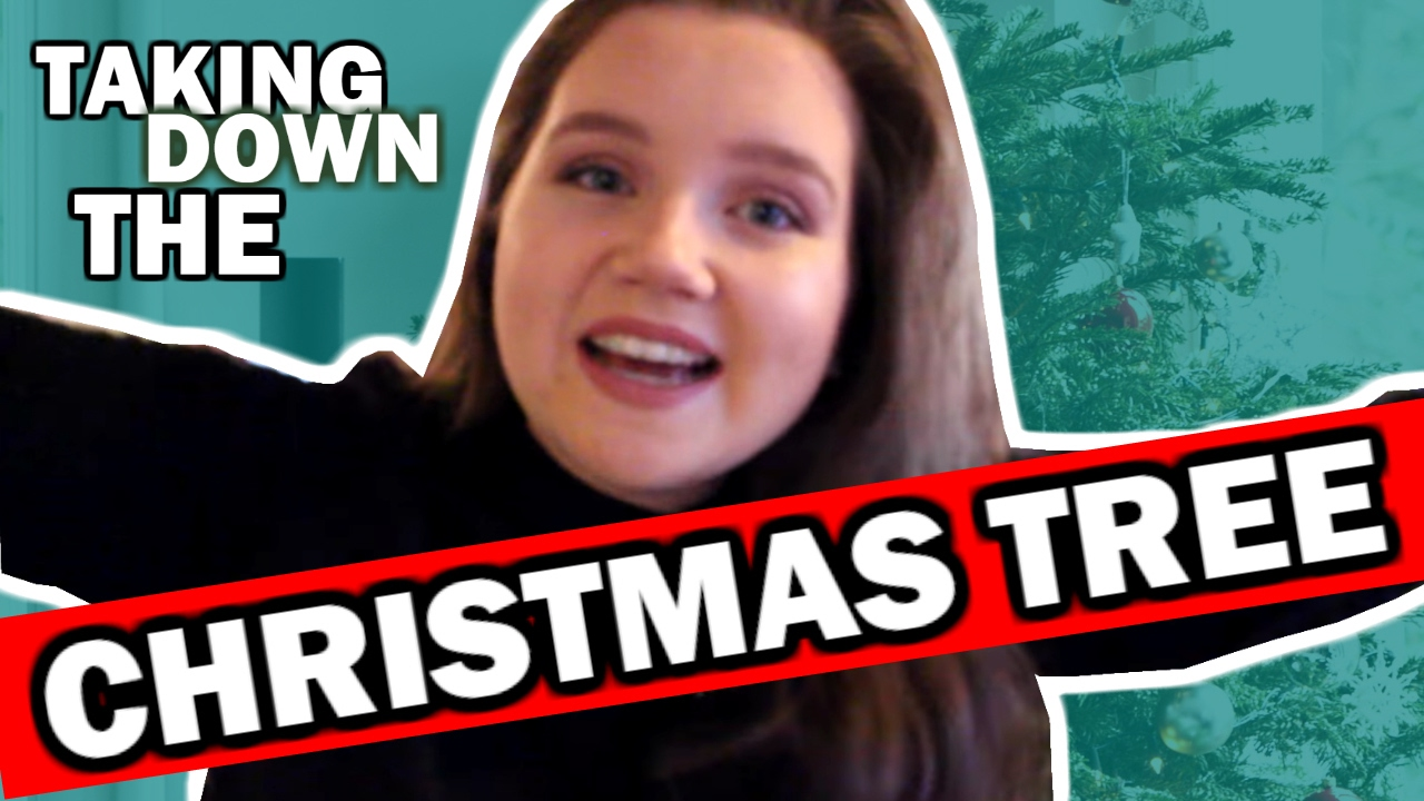 TAKING DOWN THE CHRISTMAS TREE (long Overdue)