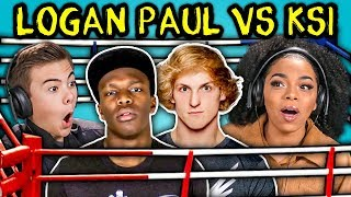 TEENS REACT TO LOGAN PAUL VS KSI BOXING MATCH