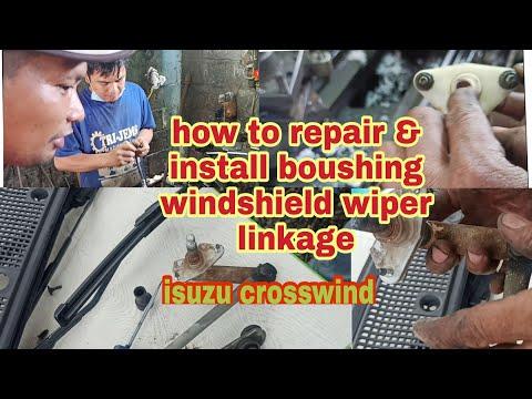 how to repair & install bushing windshield wiper linkage isuzu crosswind