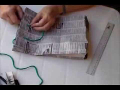 Bolsa de diario reciclado para regalo reciclado papel de - Hacer bolsas de papel en casa ...