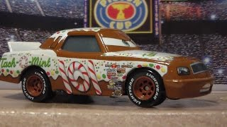 GREG CANDYMAN, TACH-O-MINT, NEW 2015 CARS MATTEL DISNEY PIXAR PISTON CUP DIECAST UNBOXING REVIEW!