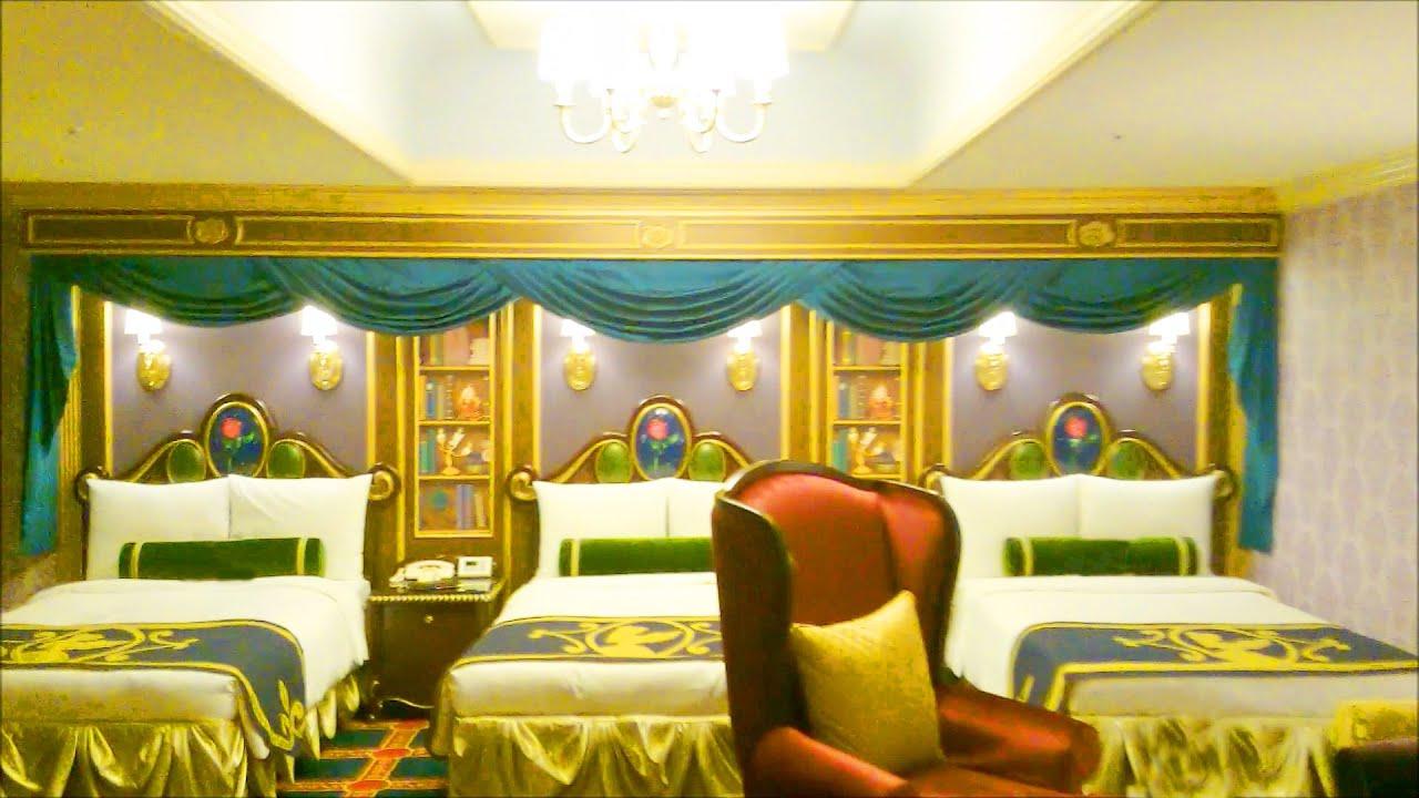 ディズニーランドホテル 美女と野獣ルームの様子 - youtube