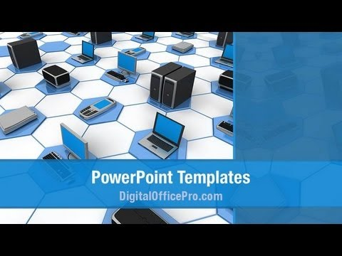 Computer Network PowerPoint Template Backgrounds - DigitalOfficePro #07135W