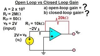 Electrical Engineering: Ch 5: Operational Amp (13 of 28) Open Loop Gain vs Closed Loop Gain