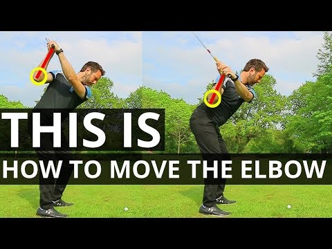 THIS IS HOW TO MOVE THE ELBOW IN THE GOLF SWING